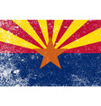arizona state flag grunge vector image vector image