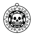 Aztec pirate coin icon simple style vector image