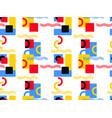 bauhaus design seamless pattern geometric vector image vector image