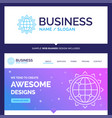 beautiful business concept brand name world globe vector image vector image