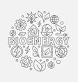 bioenergy round vector image vector image