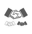 business handshake icons vector image