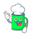 chef mug character cartoon style vector image