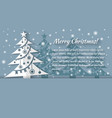 christmas tree applique background card vector image