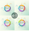 collection of round pie charts vector image
