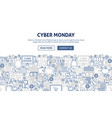 cyber monday banner design vector image vector image