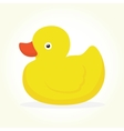 Duck toy isolated vector image vector image