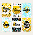 easter greetings trendy brochures vector image vector image