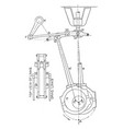 eccentric motion of the steam engine crank in vector image vector image