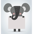 Elephant wild cartoon animal holding clean welcome vector image