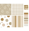 Fabric pattern set vector image vector image