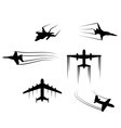 Fast flying planes and jets vector image