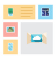 flat icon frame set of clean frame curtain and vector image vector image