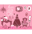 girl room birthday 380 vector image vector image