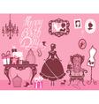 girl room birthday 380 vector image