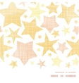 Golden stars textile textured horizontal seamless vector image vector image