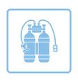 Icon of scuba vector image