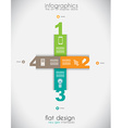 Infographic templated with paper number shapes vector image vector image
