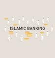 islamic banking concept managing money using vector image