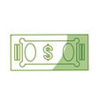 isolated green money bill vector image vector image