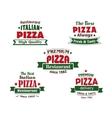 Italian pizza restaurant logo design elements vector image