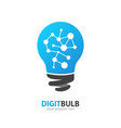 light bulb logo inspiration icon new idea vector image vector image