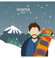 man snowboarding glasses alps mountains snow vector image