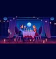 man woman couple romantic date in restaurant vector image