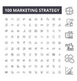 marketing strategy line icons signs set vector image vector image