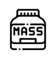 mass bottle sport nutrition thin line icon vector image