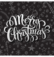 Merry Christmas lettering in chalk seamless vector image