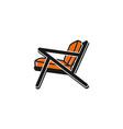 minimalist chair logo design inspiration vector image