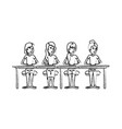monochrome blurred silhouette of teamwork of women vector image