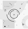 motion graphics elements black and white vector image