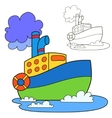 Motor ship Coloring book page vector image