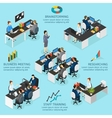 Office Isometric Infographics vector image vector image