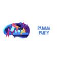 pajama party concept banner header vector image vector image