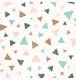 pastel scattered triangles seamless pattern vector image vector image
