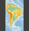 physical south america map vector image vector image