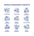 product management concept icons set vector image