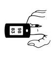 pulse oximeter vector image vector image