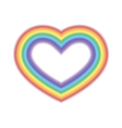 Rainbow icon heart white vector image