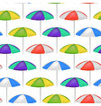 realistic detailed 3d umbrella seamless pattern vector image