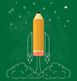 rocket pencil vector image