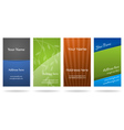 set four vertical business cards vector image