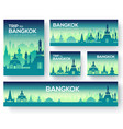 set of bangkok landscape country ornament travel vector image