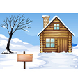 Signboard dying tree house vector image vector image