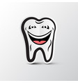 smiling tooth logo dental hygiene symbol cleaning vector image