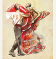 spanish dancers an hand drawn vector image
