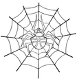 Spider web tattoo outline vector image